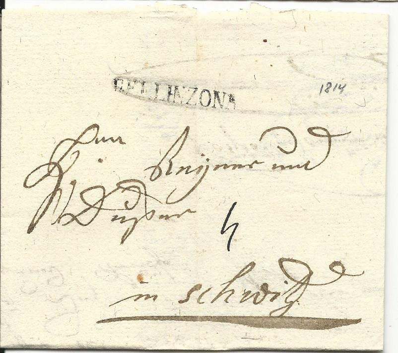 Schweiz 1814 L1 Bellinzona Auf Porto Brief N Schwytz Heiner Zinoni