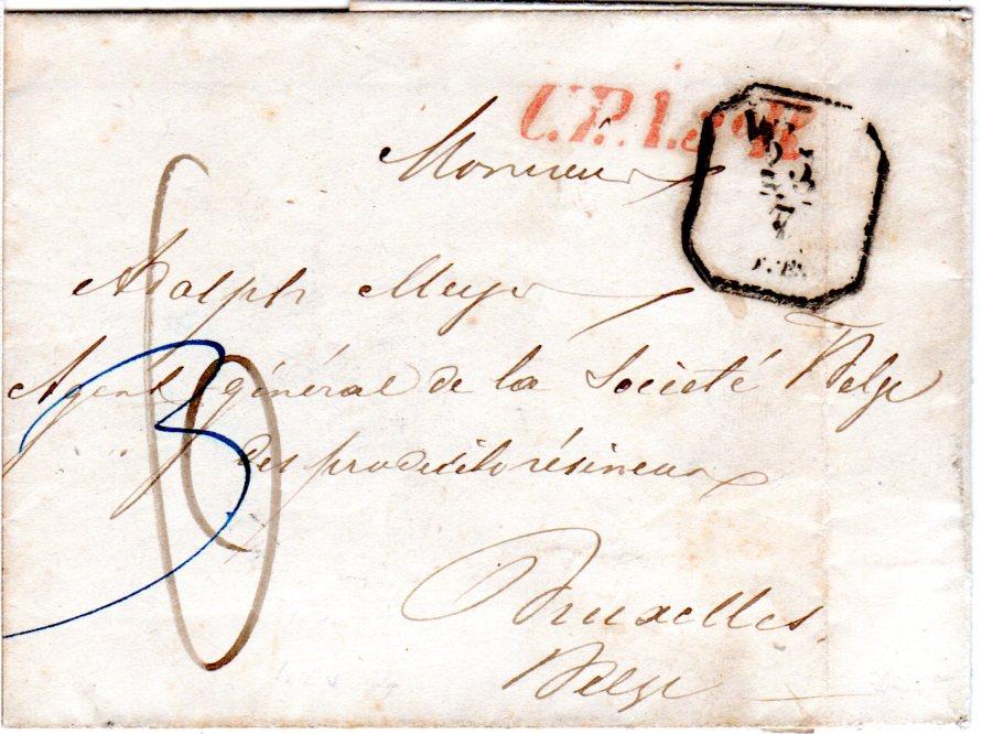 österreich 1857 Roter L1 Upa3r Auf Porto Brief V Wien N
