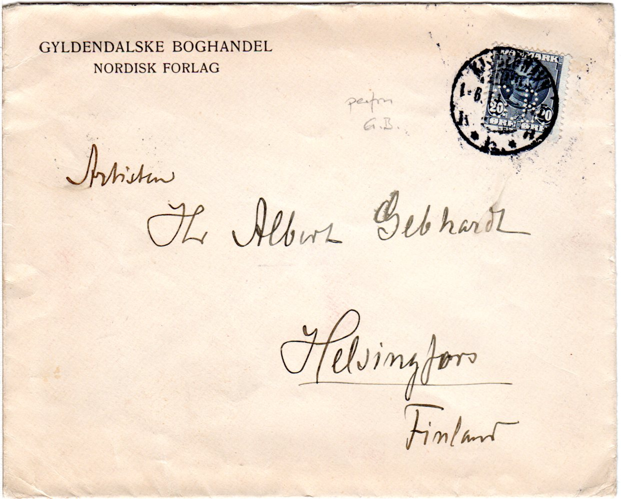 Brief Von Nakskov Nach Berlin Dänemark Dänemark Europa