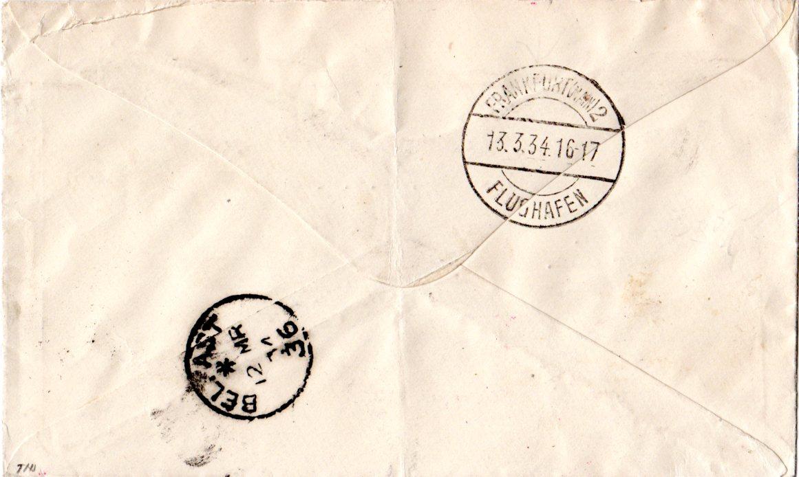 Irland 1934 Gb 4d Auf Luftpost Brief V Belfast M Deutschland
