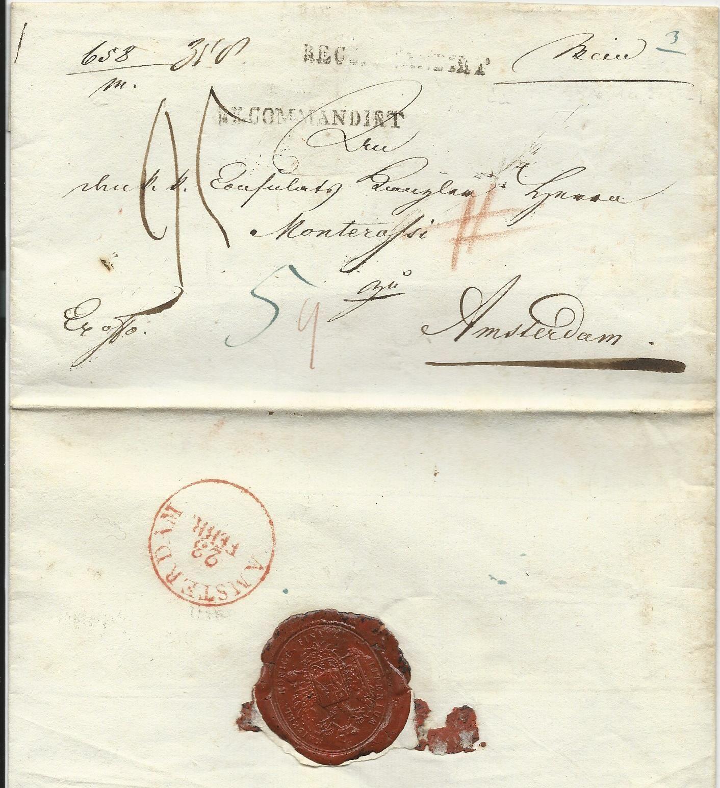 österreich Nl 1829 Auslands Einschreiben Porto Brief M L1