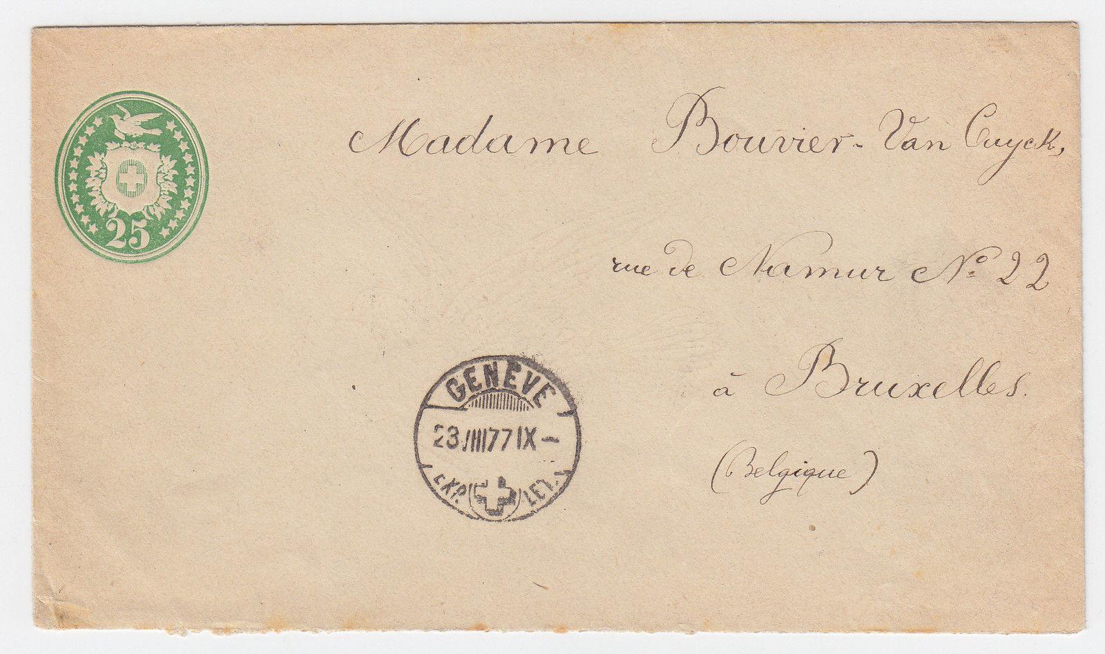 Brief Nach Belgien Kosten : Schweiz c tübli ganzsache brief v genÈve nach