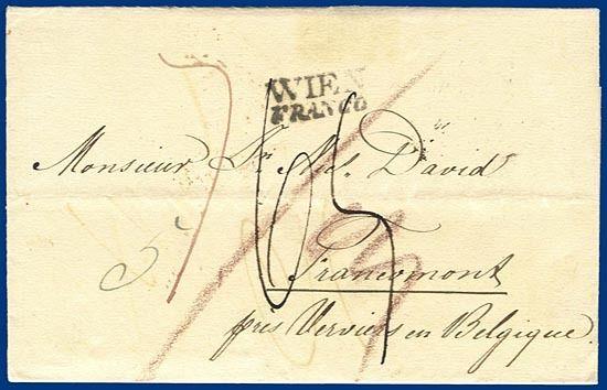 österreich 1832 Francoporto Brief Wien Belgien S234 Heiner