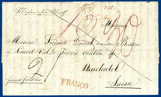 österreich Schweiz 1840 Franco Muster Ohne Wert Brief V Troppau