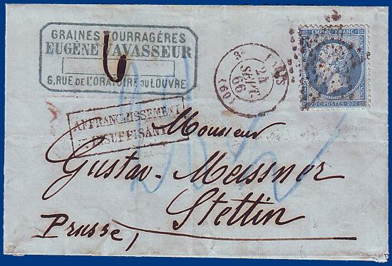 Brief Nach Luxemburg Porto : Preussen brief v frankreich m sgr nach