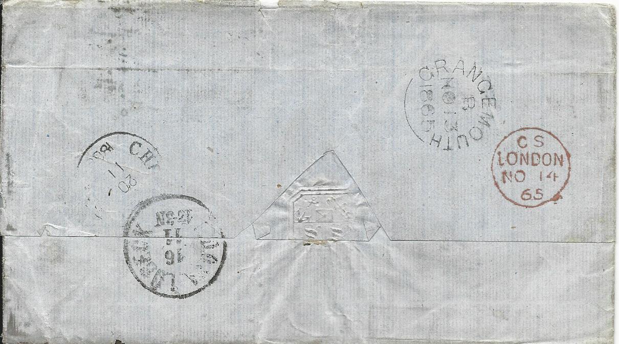 Brief Nach Irland Porto : Gb porto brief v falkirk via kdopa lübeck nach