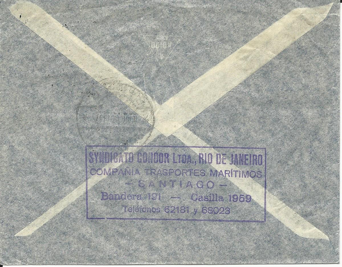 Briefe Nach Chile : Chile marken auf luftpost brief v santiago n